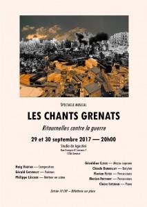 Les Chants Grenats_flyer